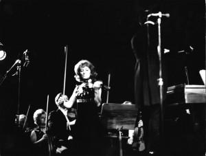 Skrzypaczka Wanda Wiłkomirska w Filharmonii Olsztyńskiej (1972)