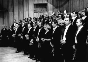 Zespół artystyczny podczas uroczystości z okazji 35-lecia Orkiestry (1980)