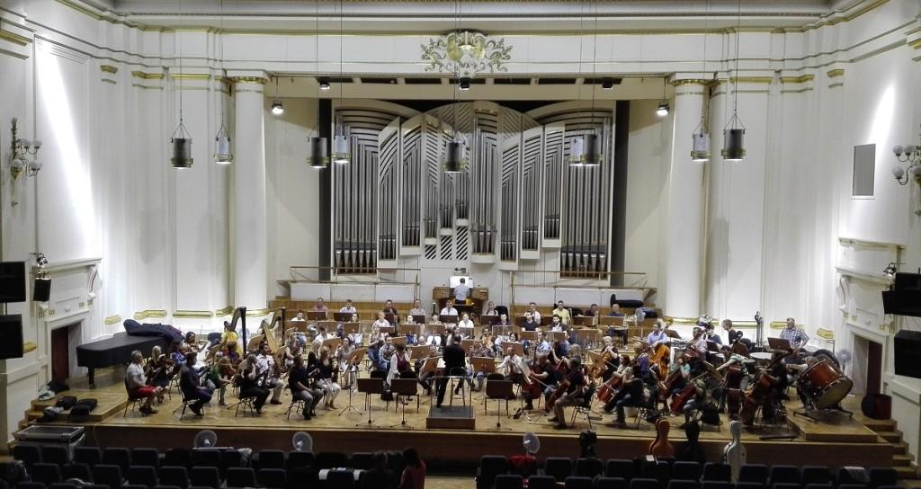 Próba orkiestry Filharmonii W-M w Filharmonii Krakowskiej (1)